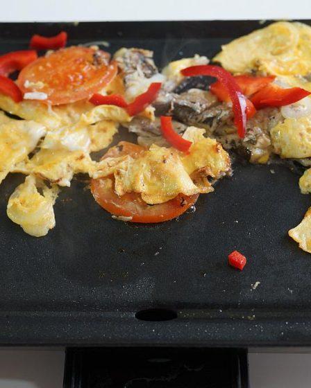 Grilling My Breakfast Eggs
