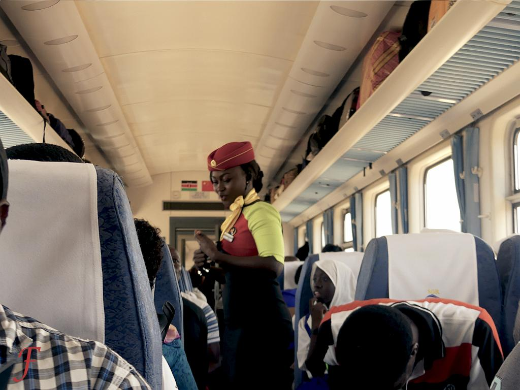 The Mombasa - Nairobi highspeed train stewardess