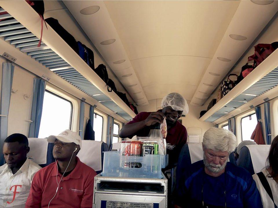 The Mombasa - Nairobi train seller