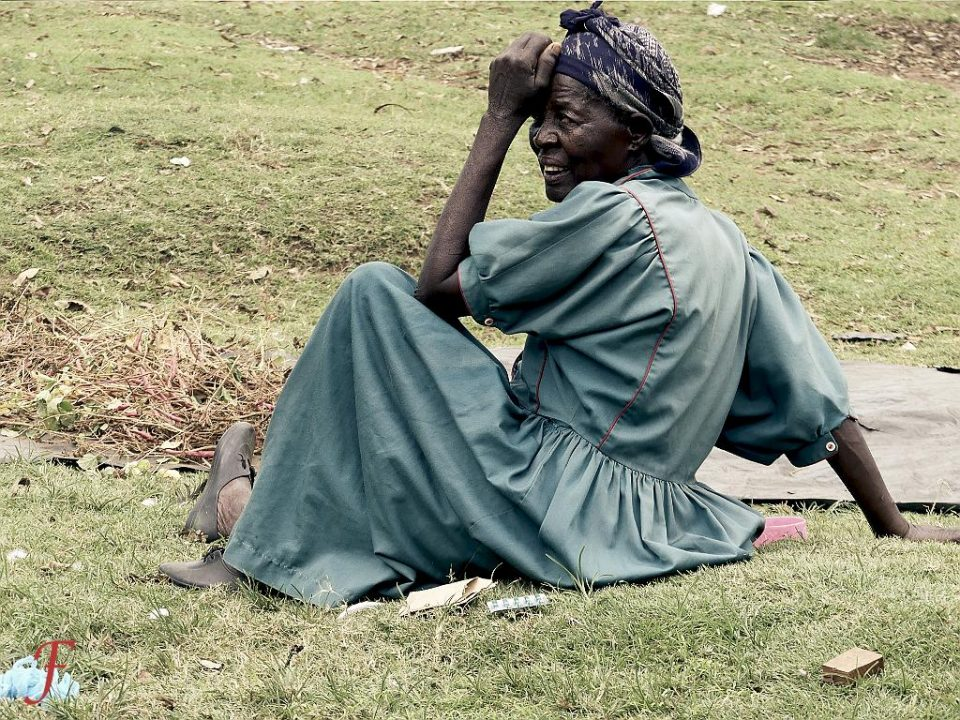 The injured old woman of Migori