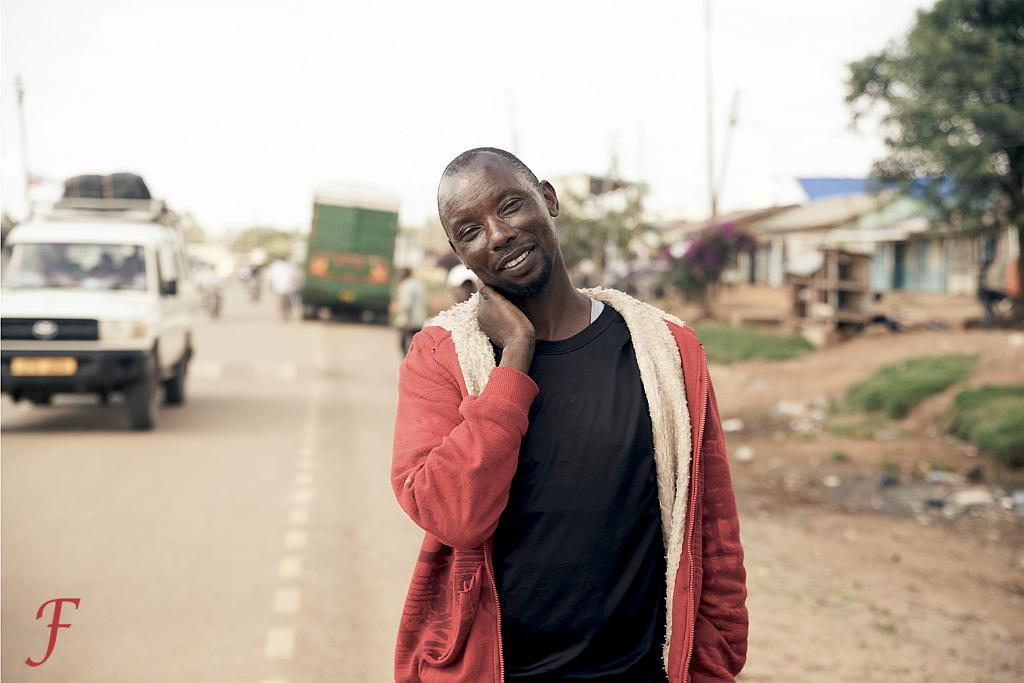 The non-shy street guy in Sirare, Tanzania
