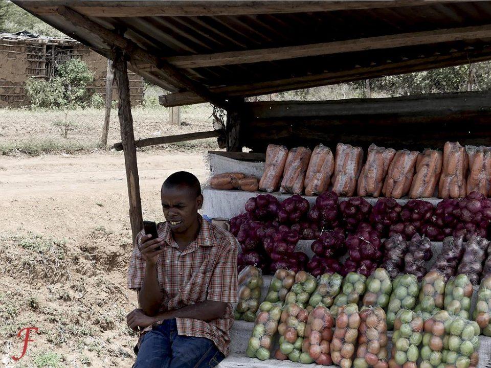 The roadside fruit seller